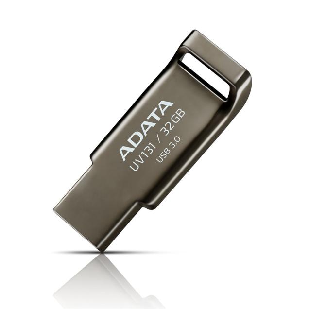 Adata 32GB USB 3.0 Flash Drive, UV131, Retail Color Grey 32GB - $15.99