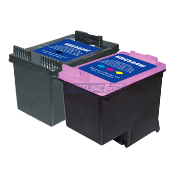 HP 61XL CH563WN, CH564WN Remanufactured High Yield Inkjet Cartridges Combo